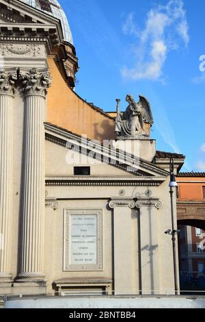 Chiesa di San Rocco allAugusteo - Church of Saint Roch allAugusteo with Largo San Rocco in the city of Rome, Italy - Stock Photo