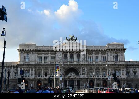 Corte Suprema di Cassazione along the Tiber River in the city of Rome, Italy - Stock Photo
