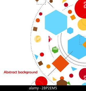 Abstract geometric forms background or banner constructivism vector illustration - Stock Photo