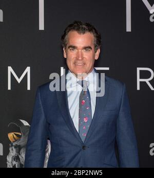 """'First Man' Premiere at NASM  American actor Brian D'Arcy James arrives on the red carpet for the premiere of the film """"First Man"""" at the Smithsonian National Air and Space Museum Thursday, Oct. 4, 2018 in Washington. The film is based on the book by Jim Hansen, and chronicles the life of NASA astronaut Neil Armstrong from test pilot to his historic Moon landing. - Stock Photo"""