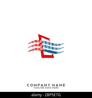 Flame and drop water, cooling and heating logo template. Plumbing, heating, gas supply, air conditioner, service and repair vector design. Renewable e - Stock Photo