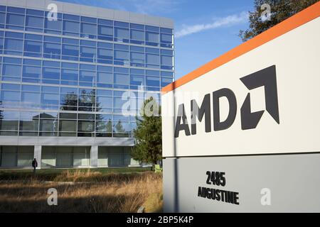 The Headquarters Of Advanced Micro Devices Amd Stock Photo Alamy