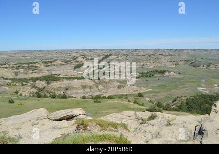 Spring in the North Dakota Badlands: Looking Toward the Eastern End of the South Unit of Theodore Roosevelt National Park From the Top of Buck Hill