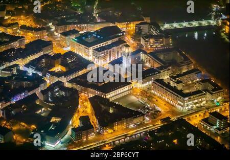 Aerial view, city administration, town hall / city of Mülheim an der Ruhr, Ruhrbania an der Ruhr, Mülheim, Ruhr area, North Rhine-Westphalia, Germany - Stock Photo