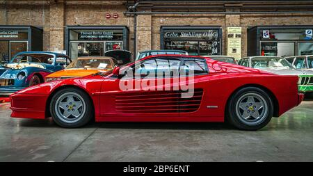 BERLIN - MAY 11, 2019: Sports car Ferrari Testarossa, 1991. 32th Berlin-Brandenburg Oldtimer Day. - Stock Photo