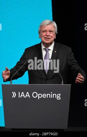 Eroeffnung der Internationalen Automobil-Ausstellung IAA 2019 auf dem Messegelaende Frankfurt am Main am 12.09.2019 - Stock Photo