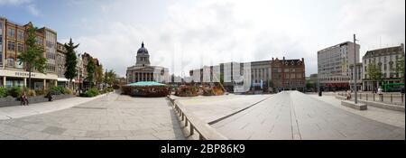Nottingham City centre, Nottinghamshire, UK, England, Nottingham City Hall, Nottingham Council House, city hall, Old Market Square, Nottingham, Notts
