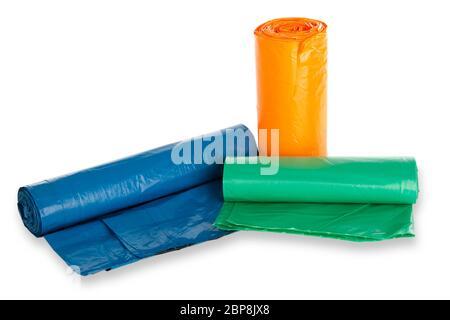 Müllbeutel freigestellt auf weissem Hintergrund - Stock Photo