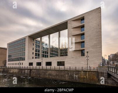 Berlin / Germany - February 12, 2017: Federal Foreign Office (Auswärtiges Amt), foreign ministry building of the Federal Republic of Germany in Berlin - Stock Photo