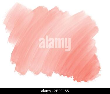 Watercolor gradient Pink red backdrop background for design. hand drawn abstract stain of reddish watercolor paint, stripes and stains from a brush. L - Stock Photo