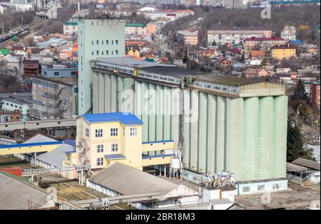 Grain Elevator In The Center Of Krasnodar Stock Photo Alamy