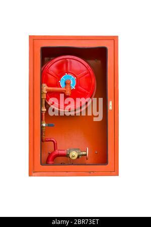 Fire extinguishers on white isolated - Stock Photo