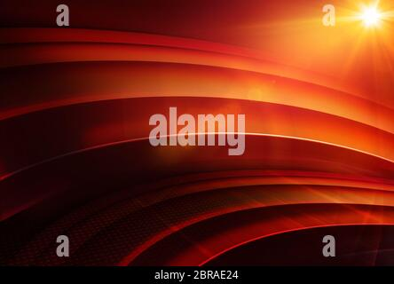 Abstract empty 3d studio space, global studio news red theme background, 3d Illustration 3d render