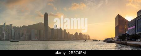 Hong Kong Island skyline at sunset, Hong Kong