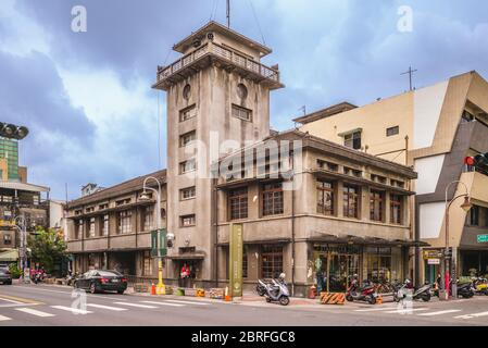 Yunlin, Taiwan - May 16, 2020: Starbucks Huwei store, former Huwei Joint Government Office Building, is a heritage site built in 1930 to look out for