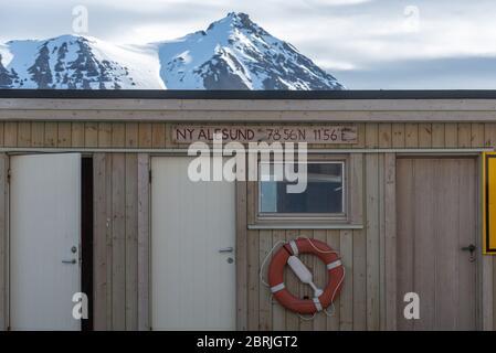Pier in Ny-Alesund, Spitzbergen, Svalbard - Stock Photo