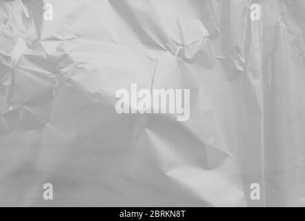 Beautiful close up view at an empty plastic film texture on a white background