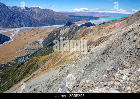 Aoraki/Mt Cook Village and Lake Pukaki