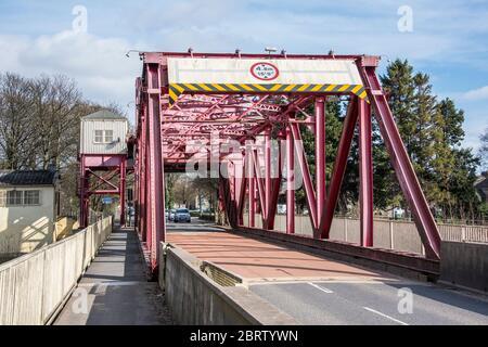 Inchinnan Bascule Bridge over the White Cart Inchinnan Renfrewshire - Stock Photo