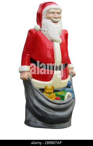 Life Size Model of Santa Claus with Christmas Presents. - Stock Photo