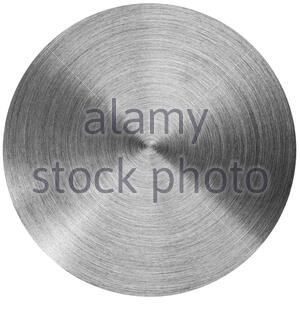 Radial stainless steel surface. Isolated on white - Stock Photo