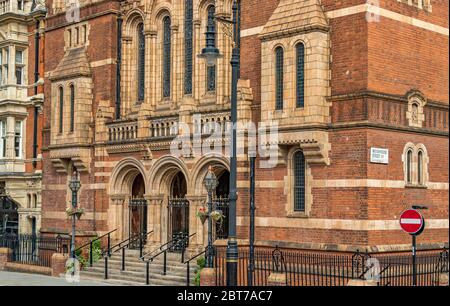 The exterior and main entrance to the Ukrainian Catholic Cathedral of the Holy Family in Exile Duke Street, Mayfair ,London W1 - Stock Photo
