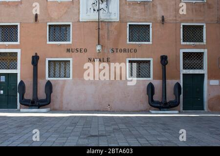 VENICE, ITALY - MAY 28 2016: Facade of the Naval Historical Museum (Museo storico Navale in Venice - Stock Photo