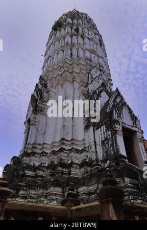 Prang at Wat Phutthaisawan, Ayutthaya, Thailand - Stock Photo
