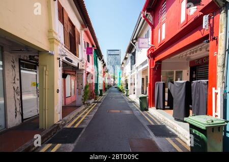 Shops at Haji Lane are require to close their business due to the tranmission of Covid19, Singapore
