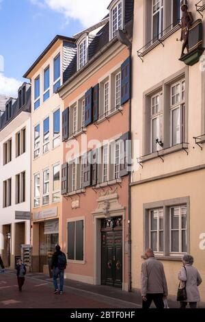 the Beethoven house on the street Bonngasse, birthplace of the composer Ludwig van Beethoven, Bonn, North Rhine-Westphalia, Germany.  das Beethovenhau - Stock Photo