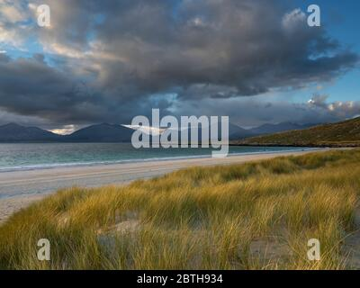 The hills of North Harris from Traigh Rosamol on an evening in May, Luskentyre, Isle of Harris, Outer Hebrides, Scotland