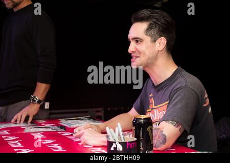London, UK - May 29th, 2018: Panic at the Disco | Brendon Urie meeting fans at HMV Oxford Street before the launch of the new album - Stock Photo
