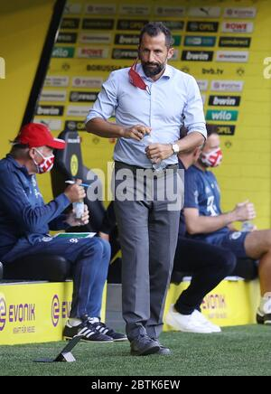 Dortmund, Germany, 26th May 2020  Hasan ( Brazzo ) Salihamidzic, FCB Sport director  in the football match  BORUSSIA DORTMUND - FC BAYERN MUENCHEN in 1. Bundesliga 2019/2020, matchday 28.  © Peter Schatz / Alamy Live News / Pool via Jürgen Fromme / firosportfoto   - DFL REGULATIONS PROHIBIT ANY USE OF PHOTOGRAPHS as IMAGE SEQUENCES and/or QUASI-VIDEO -   National and international News-Agencies OUT  Editorial Use ONLY - Stock Photo