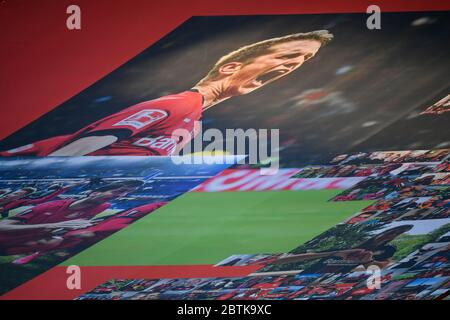 Leverkusen, Germany. 26th May, 2020. Leverkusen, Germany, May 26 2020: Football Bundesliga, matchday 28, Bayer 04 Leverkusen - VfL Wolfsburg, Fotocollage Credit: Juergen Schwarz/Alamy Live News Stock Photo