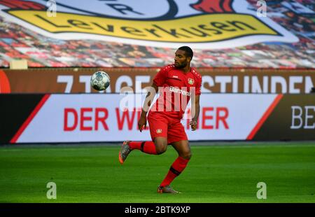 Leverkusen, Germany. 26th May, 2020. Leverkusen, Germany, May 26 2020: Football Bundesliga, matchday 28, Bayer 04 Leverkusen - VfL Wolfsburg, Jonathan Tah (Leverkusen) Credit: Juergen Schwarz/Alamy Live News Stock Photo