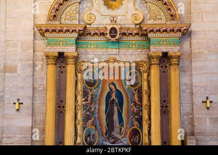 Cathedral on Plaza de Armas, Colonial City of La Serena, Norte Chico Region, Chile, South America - Stock Photo
