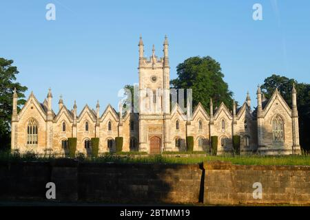 Aberford Almshouses which were built in 1844 by the Gasgoigne family, were more recently converted to offices - Stock Photo