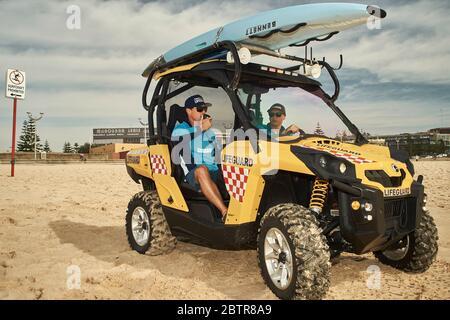 Lifeguard service at the Maroubra beach in Sydney, Australia - Stock Photo