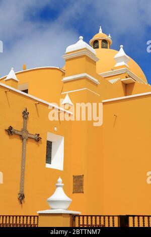 Cathedral Basilica, Plaza de Armas, Trujillo, Peru, South America - Stock Photo