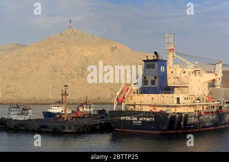Cargo ship, Port of Salaverry, Peru, South America - Stock Photo