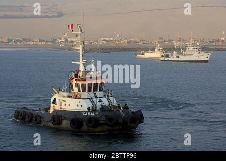 Tugboat, Port of Salaverry, Peru, South America - Stock Photo