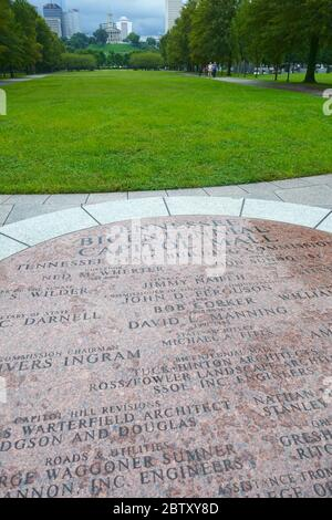 Bicentennial Capitol Mall State Park, Nashville, Davidson County, Tennessee, USA - Stock Photo