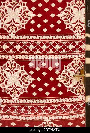 Bedouin camp door fabric, Wadi Rum desert, Aqaba, Jordan - Stock Photo