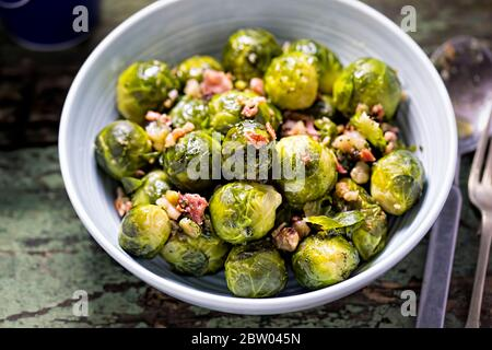 Brussel sprouts with bacon, christmas side