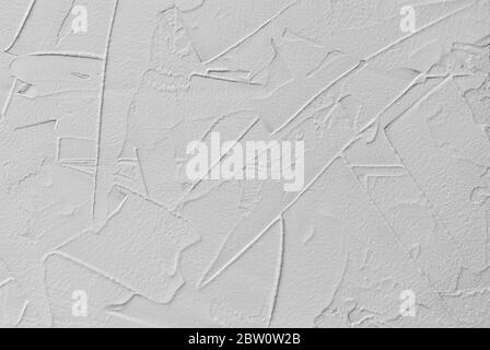 white abstract background of paste filler and bonding plaster with irregular dashes and strokes
