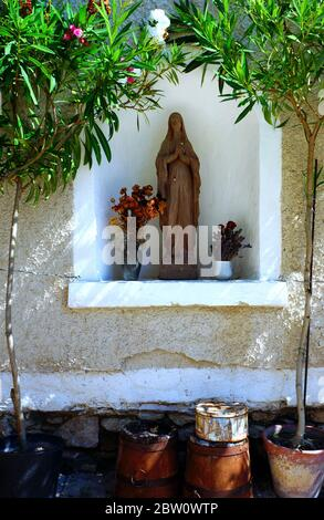 Grotto of Mother Mary - Stock Photo