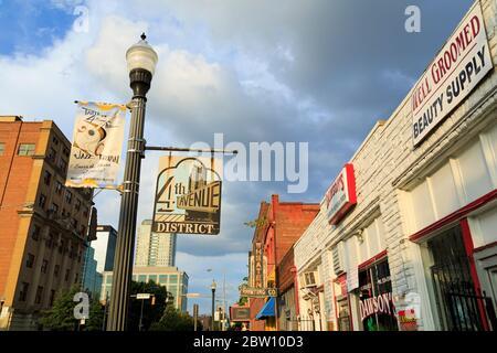Historic 4th Avenue District,Birmingham,Alabama,USA - Stock Photo