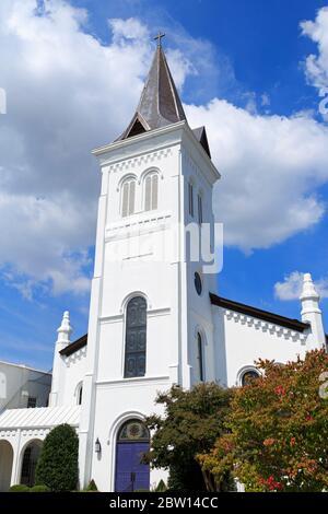 First United Methodist Church,Randolf Avenue,Huntsville,Alabama,USA - Stock Photo