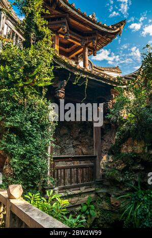 Garden pavilion in the Small Yellow Building in the Three Lanes Seven Alleys area of Fuzhou.