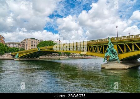 Pont Mirabeau bridge - Paris France. - Stock Photo